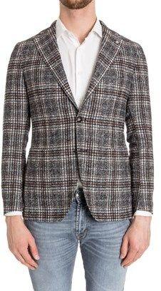 Tagliatore Men's Grey Wool Blazer.