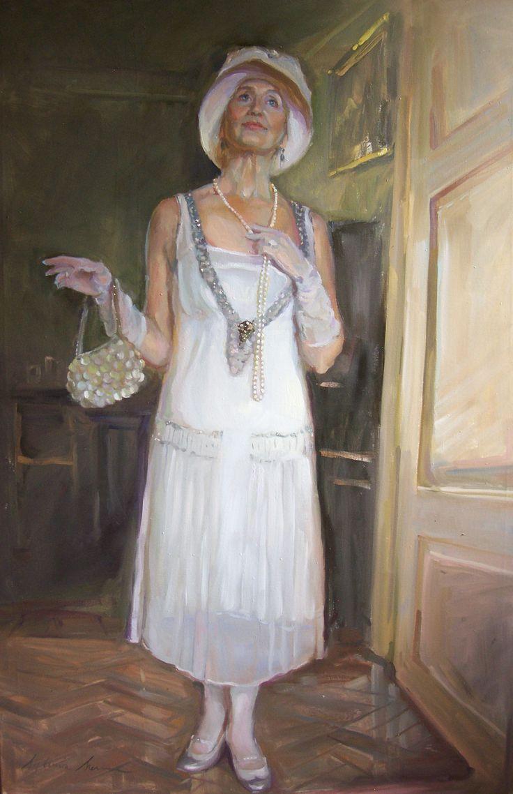 An entrance, oil on canvas 150cm x 100cm
