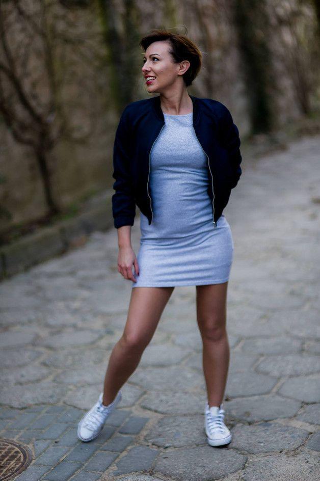 Sukienka OLA ---szary melanż - AfterHours - Sukienki dresowe