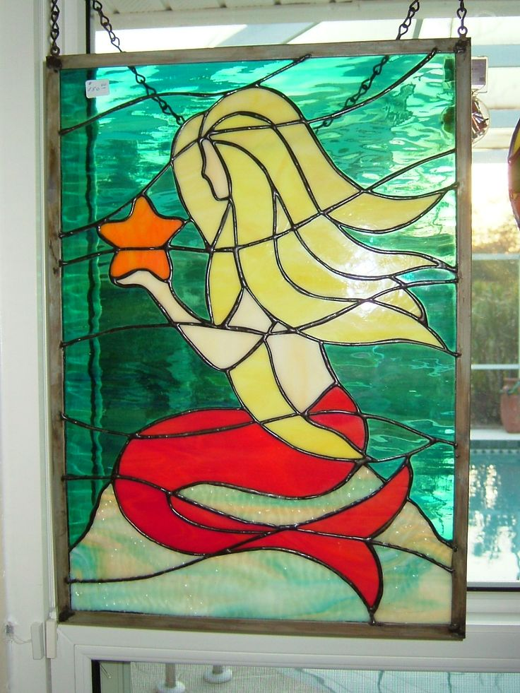 Yellow Hair Mermaid Lesley S Stained Glass Pinterest