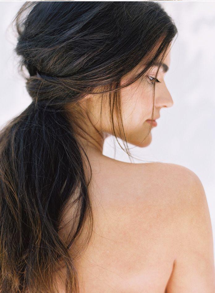 DIY coiffure de mariage cheveux lachés resultat...