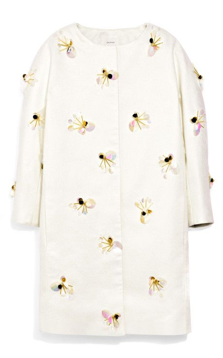 Beaded Collarless Coat by Delpozo Now Available on Moda Operandi