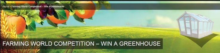 Win a Greenhouse. Answer the questions correctly to be entered into the draw.
