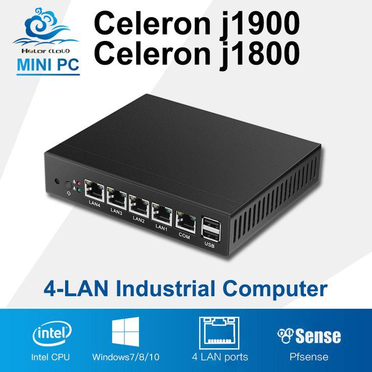 Mini PC Quad Core Tablet Fanless 4 LAN Router Firewall Celeron J1800 J1900 Windows 10/8/7 HTPC HD Graphics TV Box VGA 4 RJ45 #Affiliate