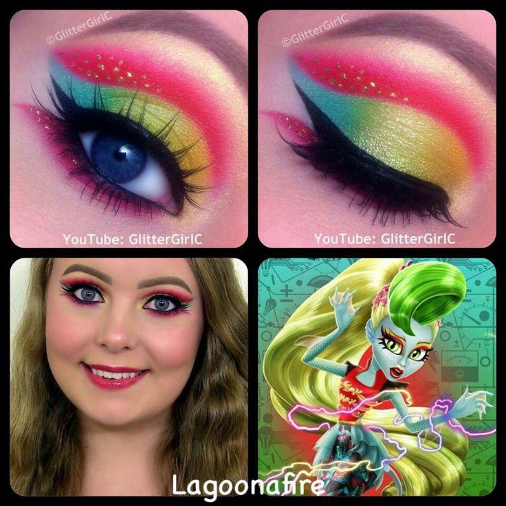 Monster high~Lagoonafire eye makeup Made by:glittergirlc