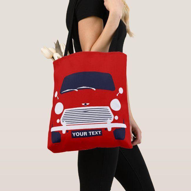 Custom Classic Mini Cooper Car Tote Bag Zazzle Com In 2021 Classic Mini Mini Cooper Mini Cooper Accessories