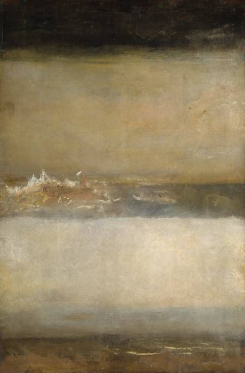 JMW Turner, Three Seascapes, 1827 Another example of why I believe Turner is the real grandfather of abstract art