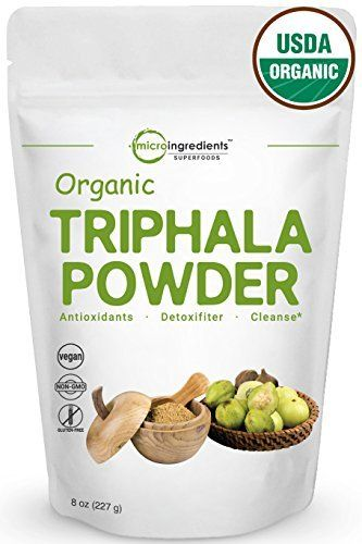 "USDA Certified Organic Triphala Powder from India. Non-GMO.   	 		 			 				 					Famous Words of Inspiration...""In the confrontation between the stream and the rock, the stream always wins - not through strength, but through persistence.""					 				 				 					Buddha 						— Click... more details at http://supplements.occupationalhealthandsafetyprofessionals.com/herbal-supplements/triphala/product-review-for-premium-pure-organic-triphala-powder-8-ounce-rich-anti"