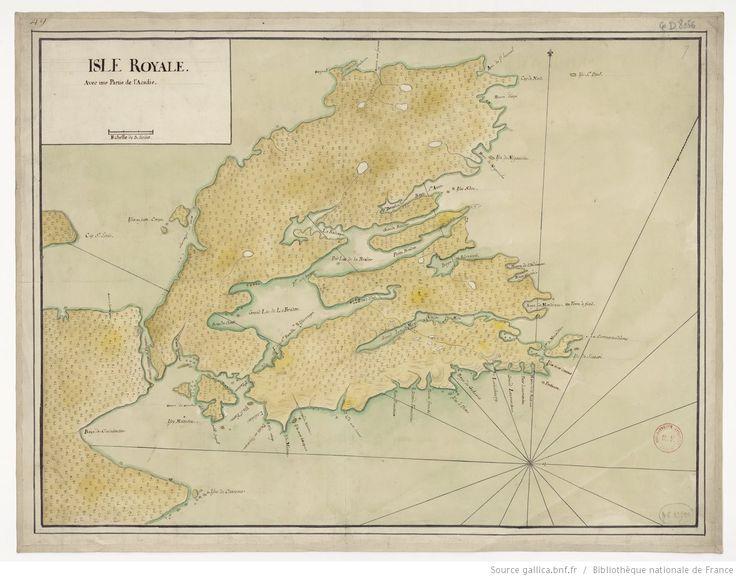 Isle Royale, avec une partie de l'Acadie