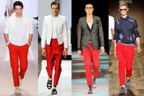 Red pants are popular in #Italy Here are some model red pants