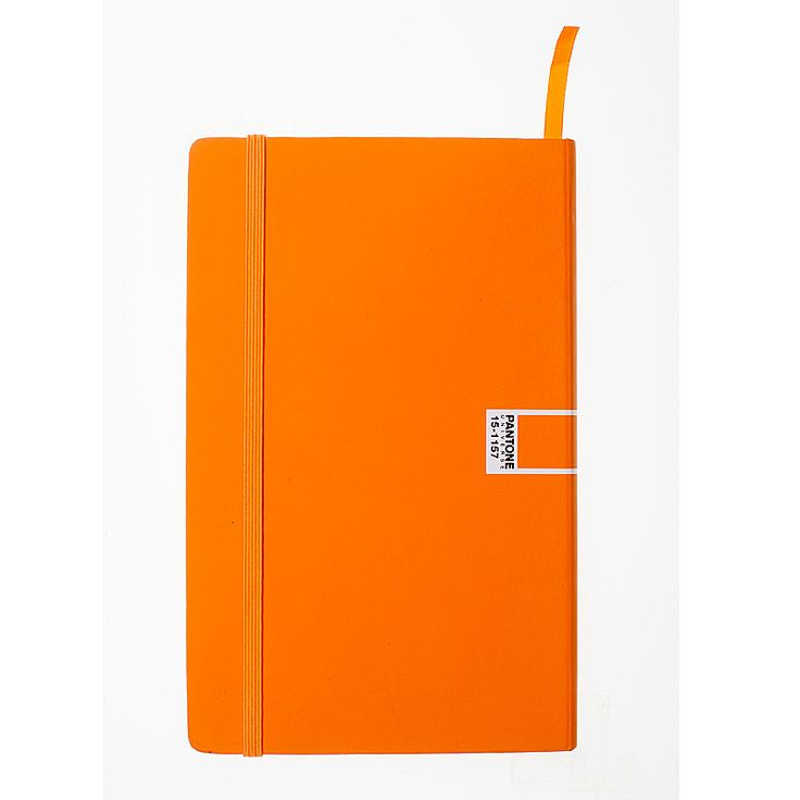 Keep your thoughts in order....Pantone Universe - notebook elastic plain L blue