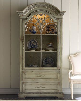 Distressed look cabinet