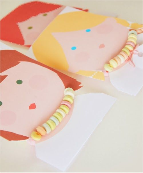candy necklace cards.