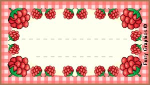 raspberry label jam