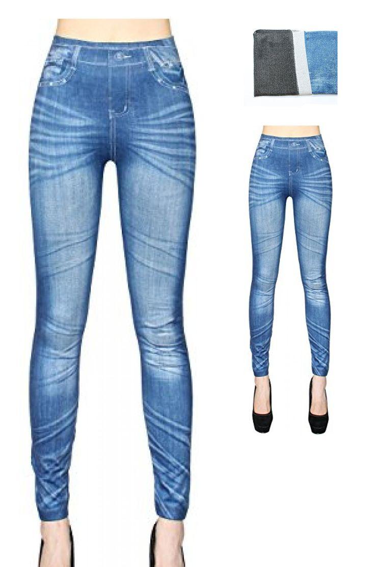 4055281028409   #dy_mode #Damen #Thermo #Jeans #Leggings / #Winter #Jeggings mit #Innenfleece  #8211; #weich  #038; #warm  #8211; #Gr. #36 #bis #42  #8211; #WL001-007 #(36/38  #8211; #S/M, #WL001-Blau)
