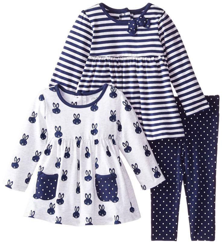 Amazon.com: Little Me Baby Girls 3 Piece Play Set: Clothing