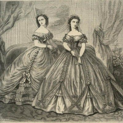 Ladies Of The 1860s: La Modes Illustree for January 1862