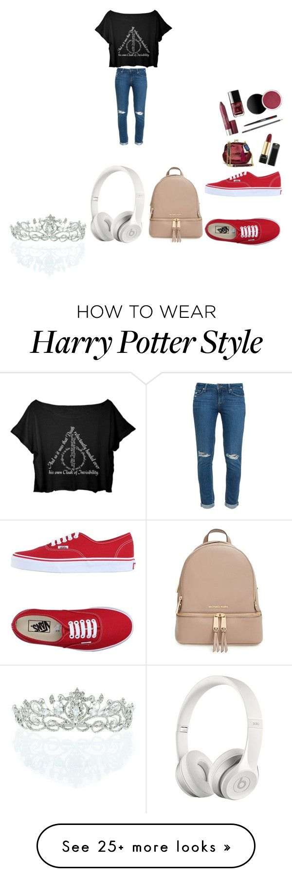 """""""gvhub"""" by briannabranch4 on Polyvore featuring Paige Denim, Vans, MICHAEL Michael Kors, Beats by Dr. Dre and Kate Marie"""