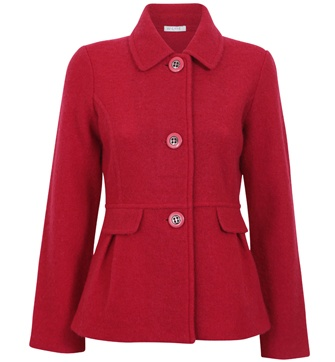 BUTTON BOILED WOOL JACKET  $99.99 #WLane