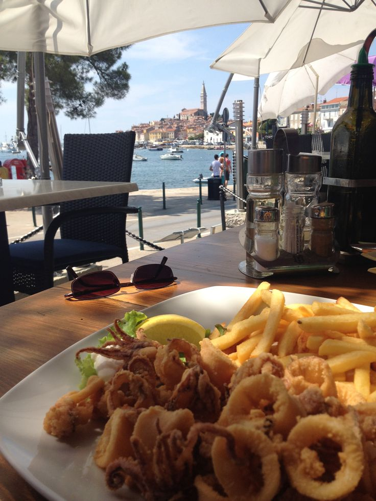 Fried Squids in Rovinj, Croatia