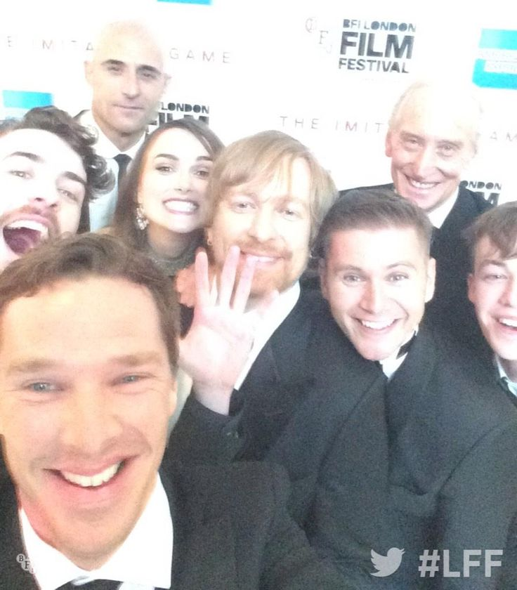 Family portrait from the Imitation Game team
