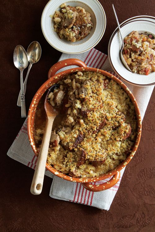 Cassoulet au Canard (Baked White Bean and Duck Casserole) | SAVEUR (just have to pick up a duck at aldi's!)