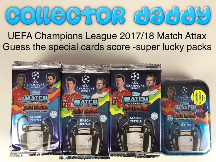 UEFA Champions League 2016/17 Match Attax Guess the special cards score game - super Lucky Packs https://youtu.be/QiPg0dY8IBQ