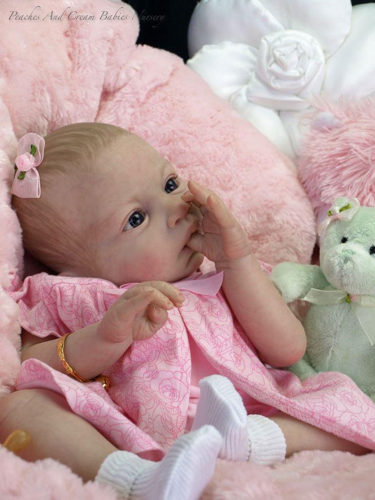 Peaches And Cream Reborn Baby Hazel Anatomically Correct Tummy Plate