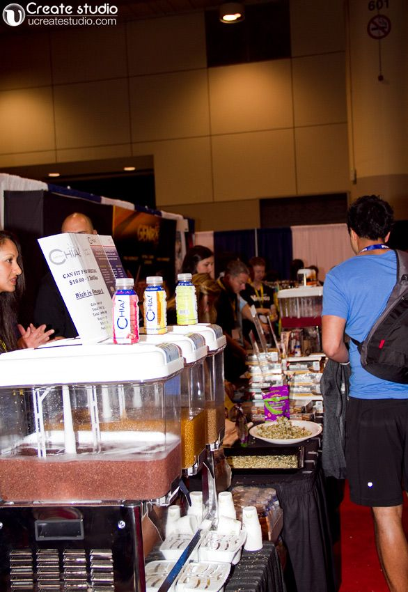 All kind of nutritious protein bar and drinks at Canfitpro trade show toronto 2013