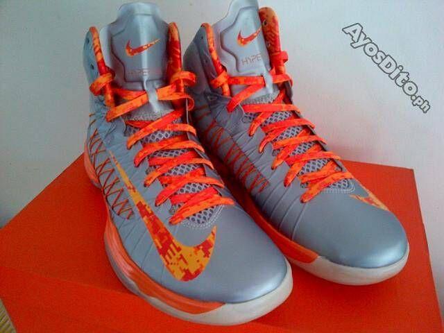 Buy Cheap Nike Lunar Hyperdunk 2012 Low Stadium Grey Team Orange