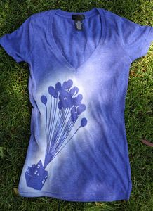 Just cut out stencil and spray with bleach. Could do this with lots of things. Line reverse tie dye!