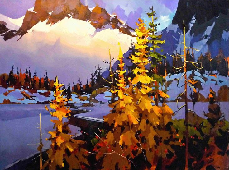 Artist: Michael O'Toole, Title: Autumn In Strathcona - click on image to enlarge
