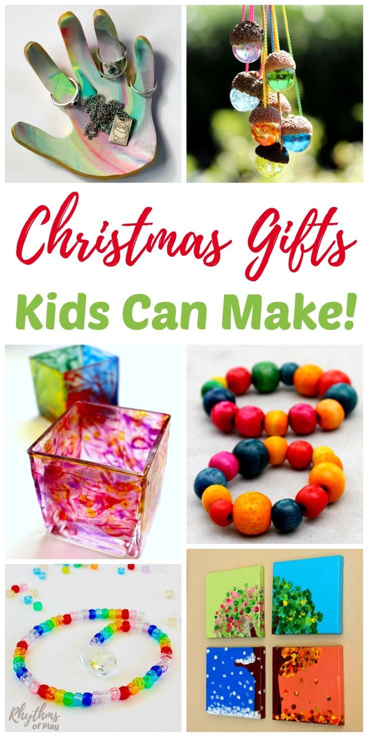 These beautiful Christmas gifts kids can make are perfect for the holidays! Easy to follow DIY directions for each of these unique handmade gift ideas are provided for each kids craft. Homemade crafts like these kid made gifts are always a favorite with friends and family. Time to get crafting!
