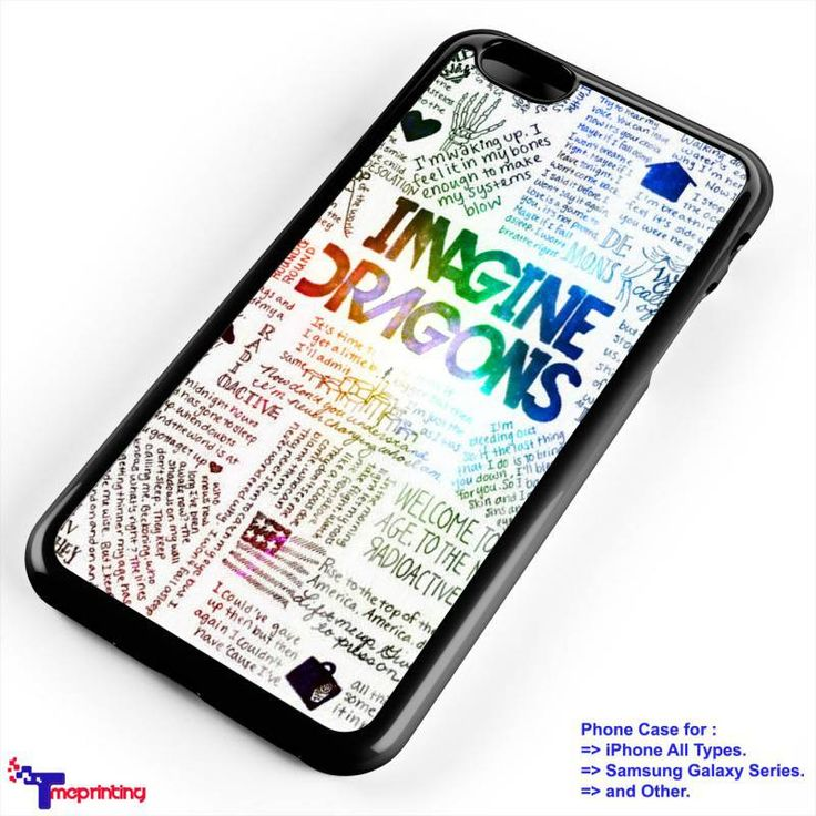 Imagine Dragons Quotes Collage - Personalized iPhone 7 Case, iPhone 6/6S Plus, 5 5S SE, 7S Plus, Samsung Galaxy S5 S6 S7 S8 Case, and Other