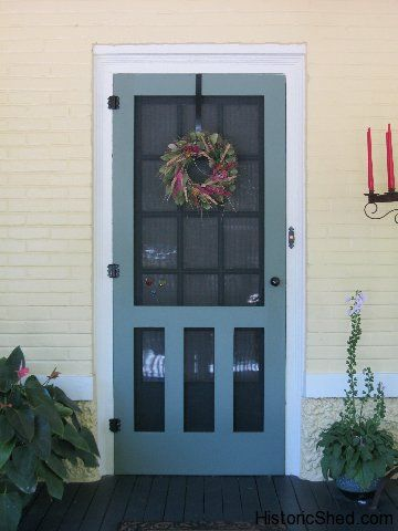 Wood screen door for a bungalow in Tampa, FL
