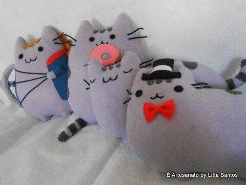 Mais gatinhos pusheen by Litta Santos À venda em e_artesanato@hotmail.com