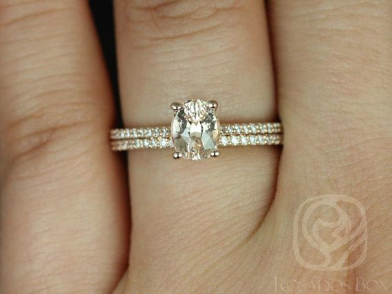 Blake 1.20cts 14kt Rose Gold Oval Peach Champagne by RosadosBox