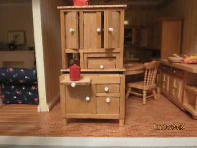 diy dollhouse kitchen cabinets miniature half scale artisan cabinet upper build