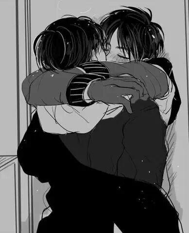 Eren x Levi (Attack on Titan/Shingeki no kyoujin) Ereri. Cute! I ship them so hard! OTP