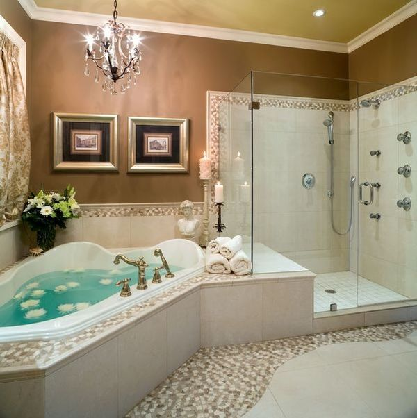 Luxury corner bathtub