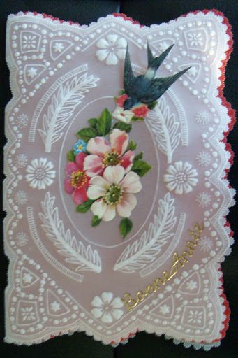 Parchment Card: orchidée