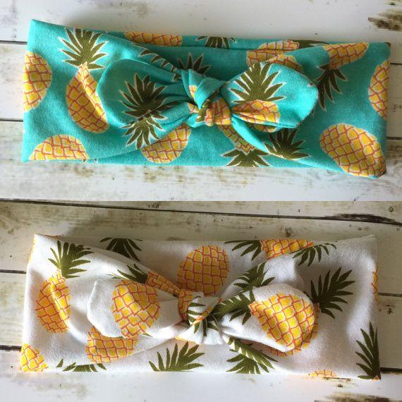 Pineapple Top Knot Headband / Twisted turban by BrodyRaeBowtique
