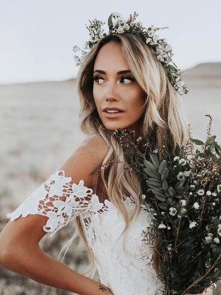 Elfenbein Meerjungfrau Lace rustikale Brautkleider Illusion Ausschnitt Strand Brautkleid …   – Sheer Girl