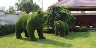 Büyüleyici bahçe sanatı...