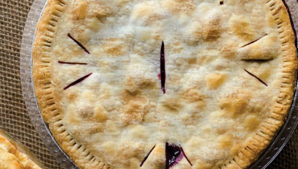 Author Greg Patent spent 20 years perfecting this pie. If huckleberries are unavailable, wild blueberries may be substituted.