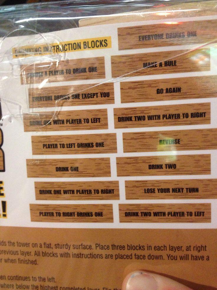 jenga game rules instructions