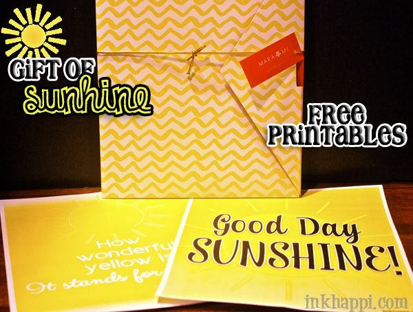 gift of sunshine  all things yellow plus free printables