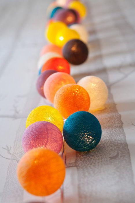 Wil je graag styling advies, kom dan kijken op de website www.littledeer.nl #cotton ball lights #lichtsnoer #lights