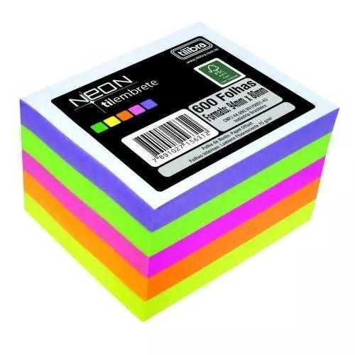 Bloco De Anotações Tilembrete Neon 600 Folhas Tilibra - R$ 15,99
