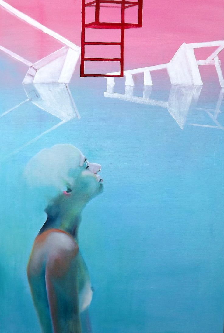FINEARTSEEN - View Red Dream by Haelyn Y. A stunning original modern conceptual portrait painting. Available on FineArtSeen - The Home Of Original Art. Enjoy Free Delivery with every order. << Pin for later >>